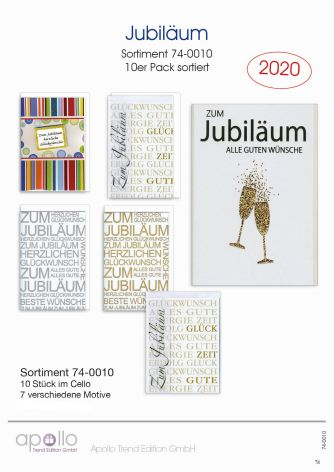 Karte Jubiläum Display