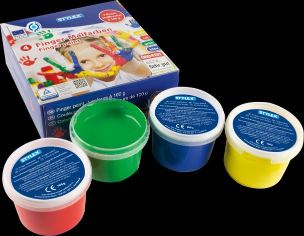 Fingerfarben Set 4 Becher
