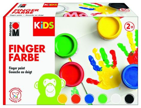 Fingerfarben-Set 6er-Set