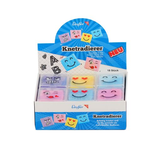 Radierer Smiley-Knetradie