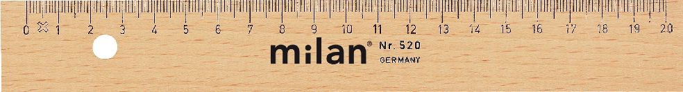 Milan Lineal Holz 20cm