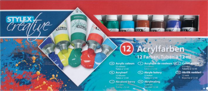 Acrylfarbe 12er a 12ml