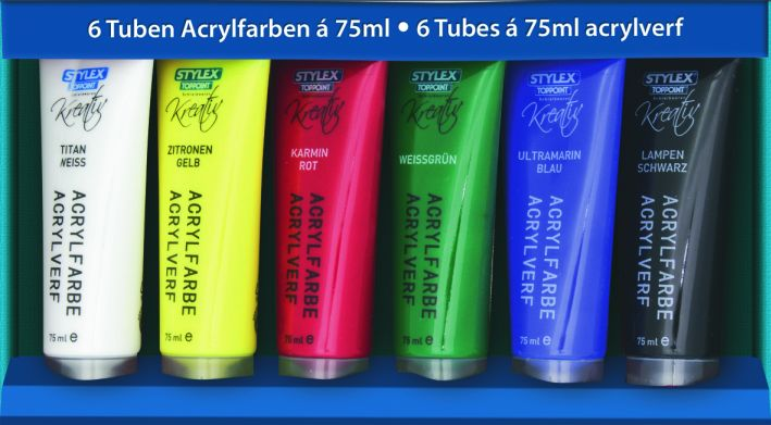 Acrylfarbe 6er a 75ml
