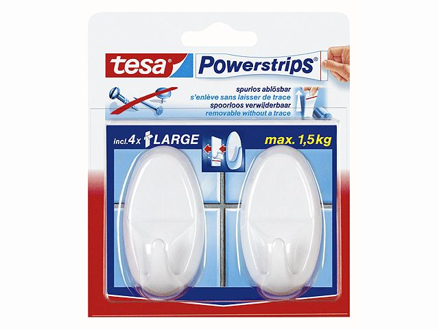 Tesa Power-Strips Weiss
