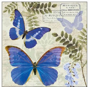 Serviette Blue Morpho