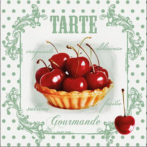 Serviette Red Cherries