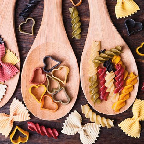 Serviette Colorful Pasta