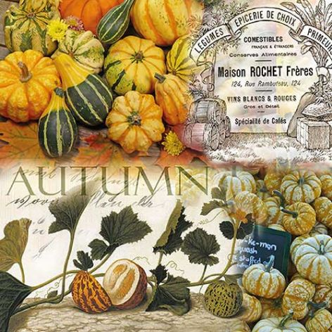 Serviette Autumn Pumpkins