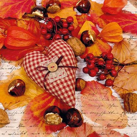 Serviette Autumn Heart