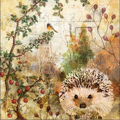 Serviette Autumn Hedgehog