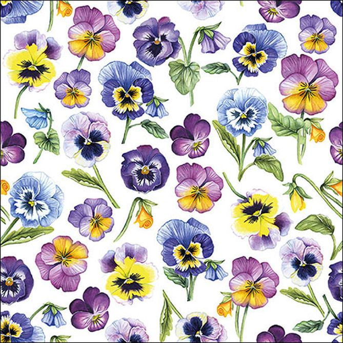 Serviette Pansy All Over