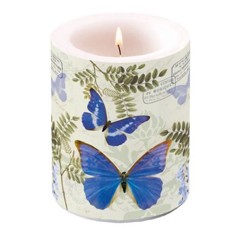 Candle Big Blue Morpho