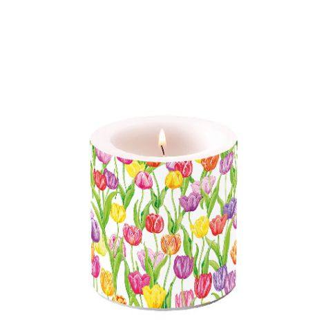 Candle Small Magic Tulips