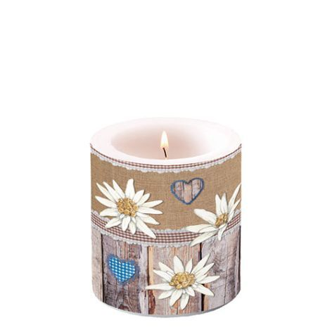 Candle Small Edelweiss