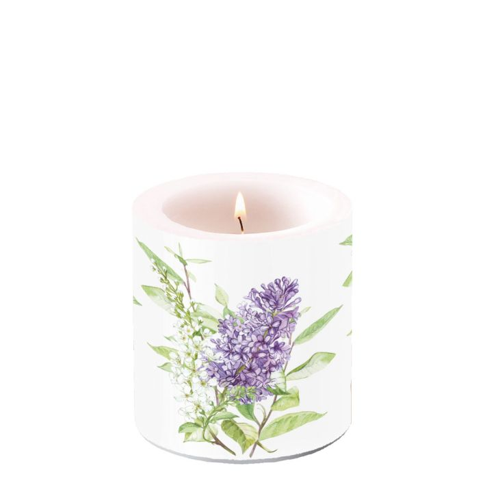 Candle Small Lilac White