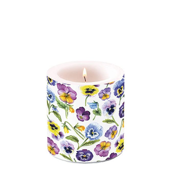 Candle Small Pansy All