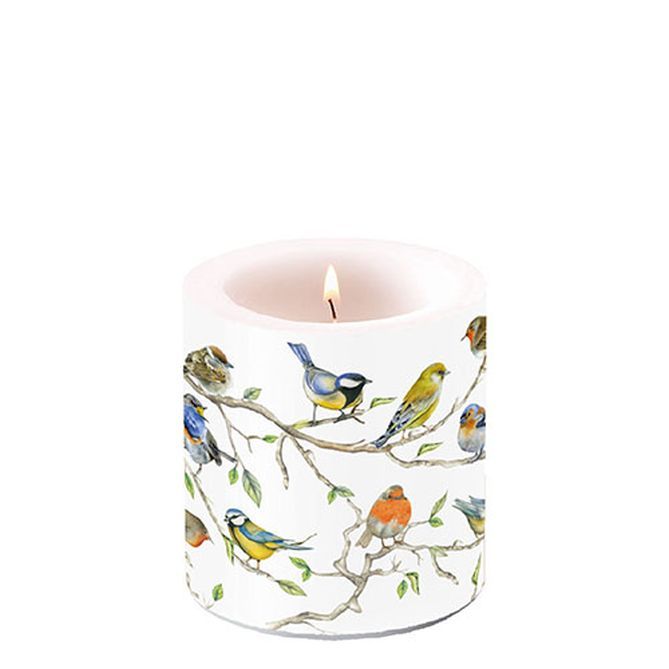 Candle Small Birds