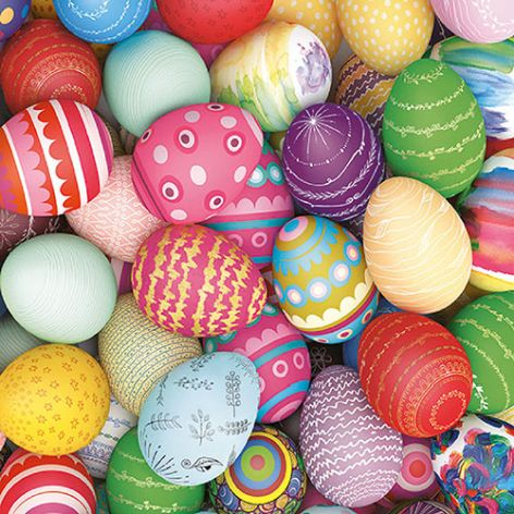 Serviette Colorful Eggs