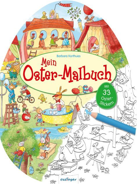 Malbuch Ostern in Ei-Form