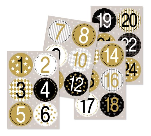 Sticker Numbers gold